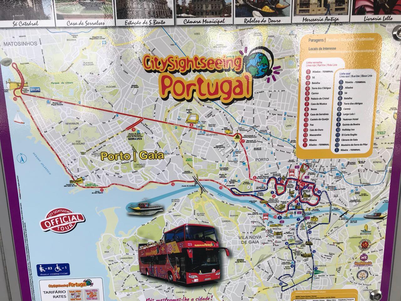 Porto Hop on bus