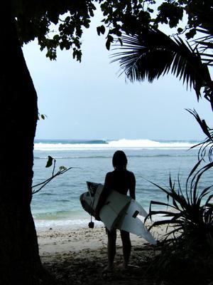 Roxy Davis Surfing